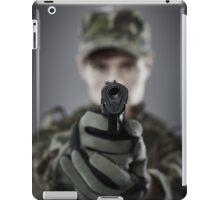 Military guy shooting iPad Case/Skin