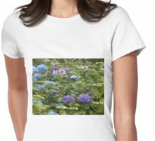 Lost Among The Hydrangeas Womens Fitted T-Shirt