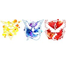 Pokemon GO Teams Watercolour Photographic Print