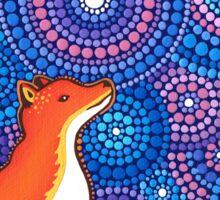 Star Gazing Fox Sticker