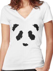 Rorschach Panda Women's Fitted V-Neck T-Shirt