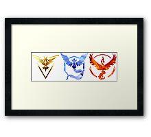 Pokemon GO Teams Framed Print