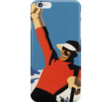 Skiing the slopes iPhone Case/Skin