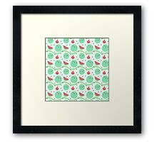 Kawaii Melon Framed Print