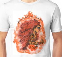 AfroZodiak Collection©:Leo Pinup Art by Hemenjini Nubian-Bey Unisex T-Shirt