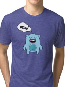Cartoon monsters in a flat style. YEAH! Tri-blend T-Shirt