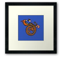 Medieval Squirrel Letter D Framed Print