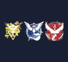 Pokemon GO Teams Watercolour Kids Tee