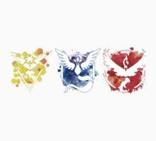 Pokemon GO Teams Watercolour One Piece - Short Sleeve