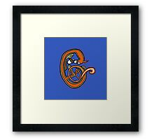 Medieval Squirrel Letter C Framed Print