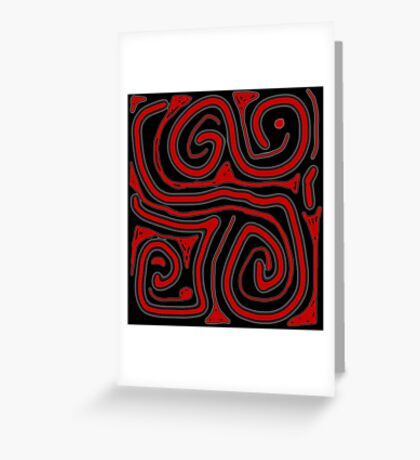 Red pattern Greeting Card
