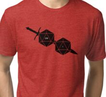 Dungeons And Dragons: The Dice And Sword Tri-blend T-Shirt