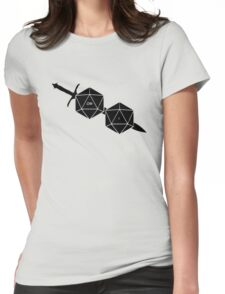 Dungeons And Dragons: The Dice And Sword Womens Fitted T-Shirt
