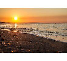 The sun comes from the Italian sea coast Photographic Print