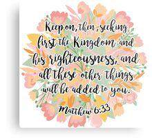 Matthew 6:33 Metal Print