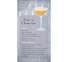 Soyer Au Champagne Cocktail Recipe Photographic Print