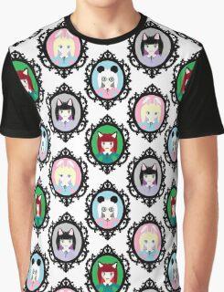 Kawaii Cosplay Girl - Bunny, Fox, Panda & Cat Graphic T-Shirt