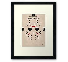 No449 My Friday the 13th minimal movie poster Framed Print
