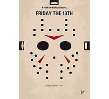 No449 My Friday the 13th minimal movie poster Photographic Print