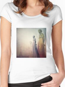 Ghosts of Paris Women's Fitted Scoop T-Shirt