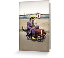 Barkin' Down the Highway! Greeting Card
