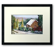 Country Cottage Framed Print