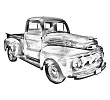 1951 Ford F-1 Pickup Truck Illustration  Photographic Print