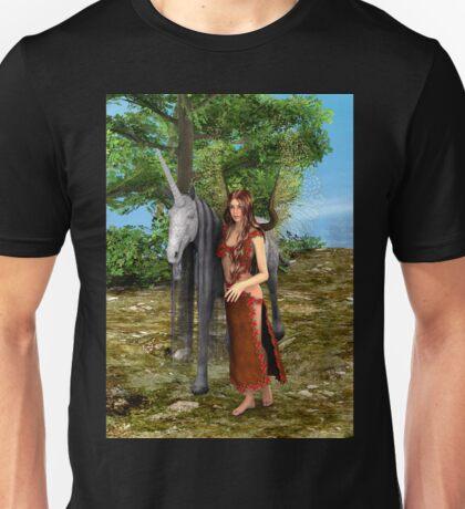 Fairy and Unicorn Unisex T-Shirt