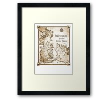 Westeros and the Free Cities Framed Print