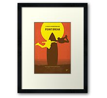 No455 My Point Break minimal movie poster Framed Print