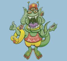 Cool monster rising its thumb to get a ride One Piece - Short Sleeve