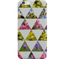 Flora Patchwork: Triangles iPhone Case/Skin