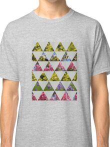 Flora Patchwork: Triangles Classic T-Shirt