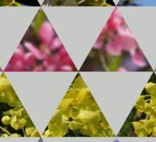 Flora Patchwork: Triangles Sticker