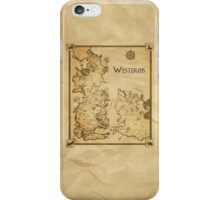 Westeros and the Free Cities iPhone Case/Skin