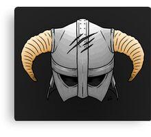 Skyrim Helmet Canvas Print