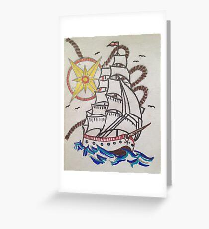 sail the sea  Greeting Card