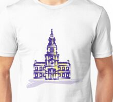 Independence Hall in purpley colors Unisex T-Shirt