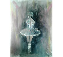 Doubt ballerina abstract painting Photographic Print
