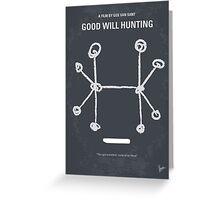 No461 My Good Will Hunting minimal movie poster Greeting Card