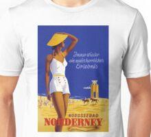 Vintage Norderney Germany Travel Poster Unisex T-Shirt