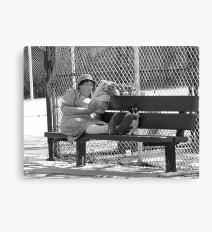 Sitting In The Park Canvas Print