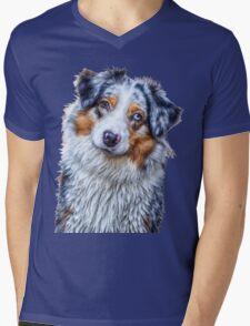 Australian Shepherd Mens V-Neck T-Shirt