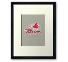 Nerd Caltrops Framed Print