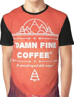 Twin Peaks - Damn Fine Coffee Graphic T-Shirt