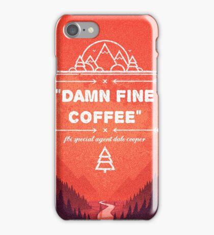 Twin Peaks - Damn Fine Coffee iPhone Case/Skin