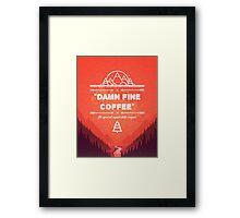 Twin Peaks - Damn Fine Coffee Framed Print