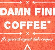 Twin Peaks - Damn Fine Coffee Sticker