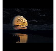 The Moon And The River Photographic Print