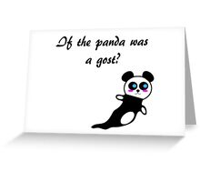 Ghost Panda Greeting Card